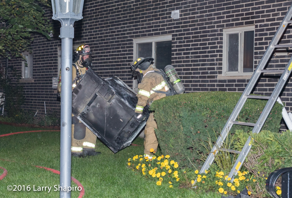 firefighters removed stove after fire