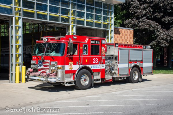 Evanston FD Engine 23