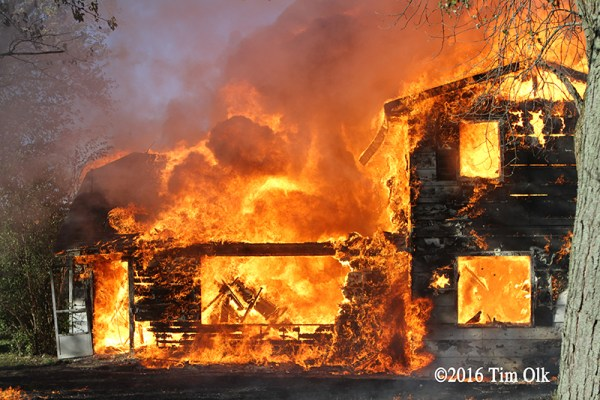 burn down of vacant house