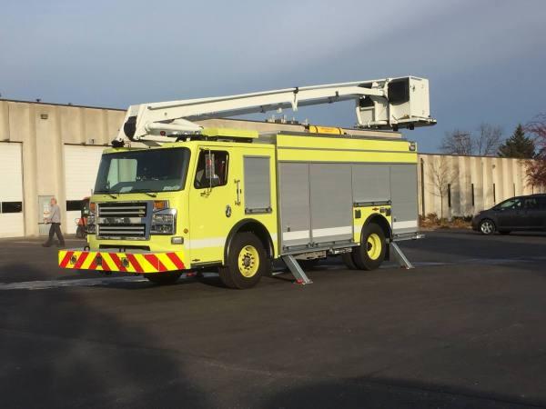 Rosenbauer America ACP-55 articulating aerial for O'Hare Airport