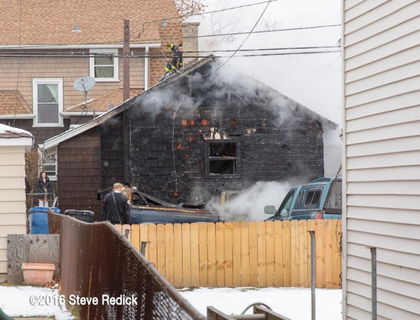 aftermath of house fire