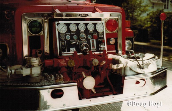 front mounted pump on a fire engine