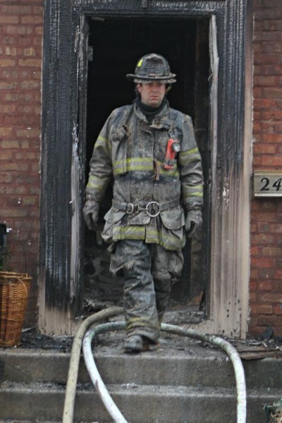firefighter after house fire