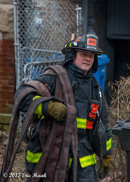 Chicago FD candidate on the job