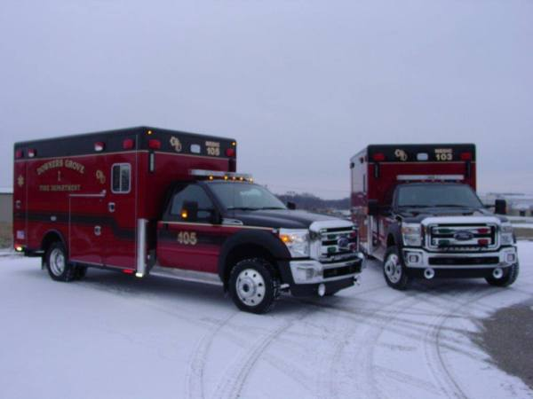 2 new ambulances for the Downers Grove FD