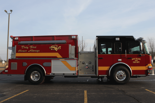 Sauk Village fire engine