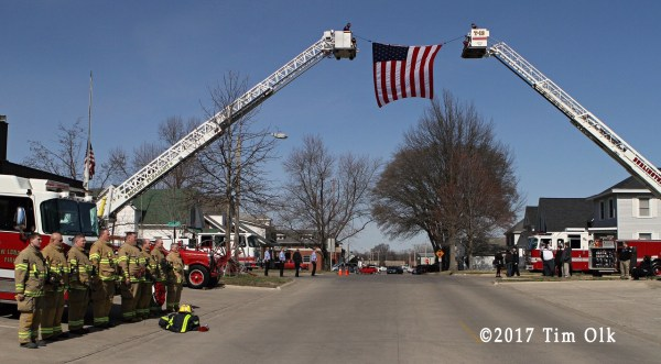 funeral for West Burlington Fire Department Firefighter Jim Franciskovich