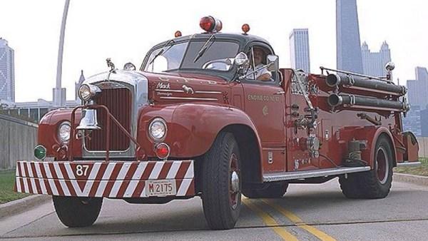 1960 B-Model Mack fire engine