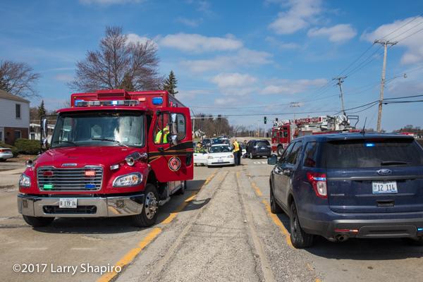 Freightliner ambulance at crash