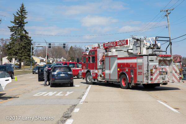 fire truck as blocking at crash scene