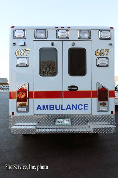 rear of new ambulance