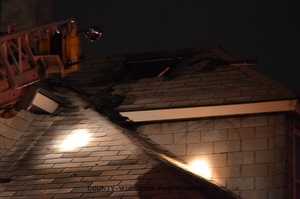 damage to roof from fire
