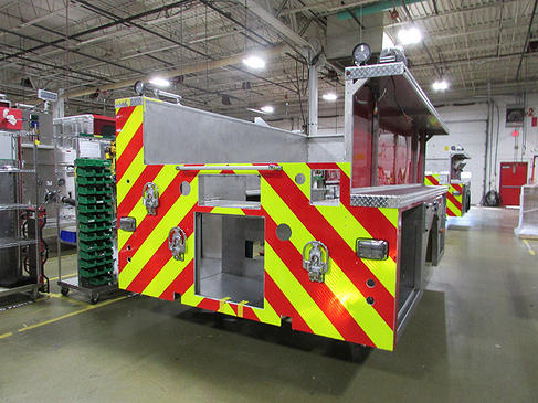 fire truck being built for Chicago