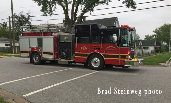 HME Ahrens Fox fire engine