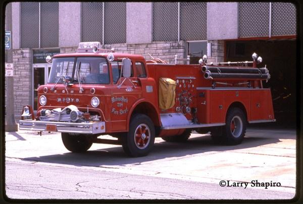 Vintage Melrose Park Ford C-Series fire engine