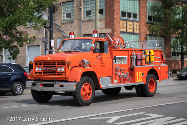 vintage GMC fire engine from the Naval Air Station Glenview
