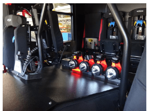 new fire truck interior