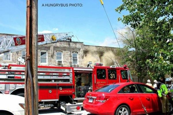 Brooklyn Park Volunteer Fire Department Truck 31 at work