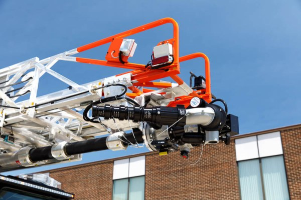 tip of prepped aerial ladder