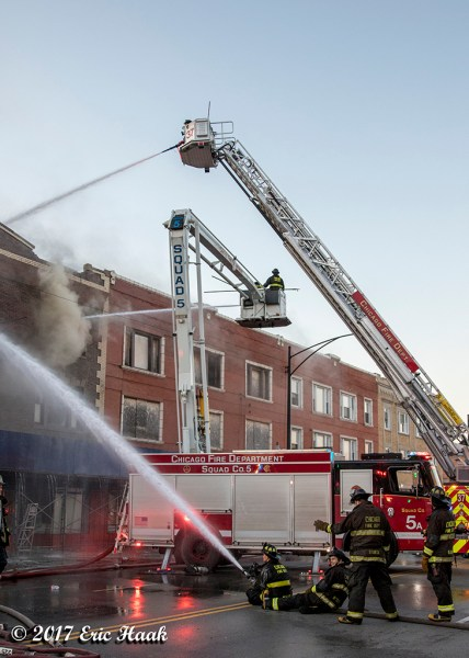 Chicago FD Squad 5 at work