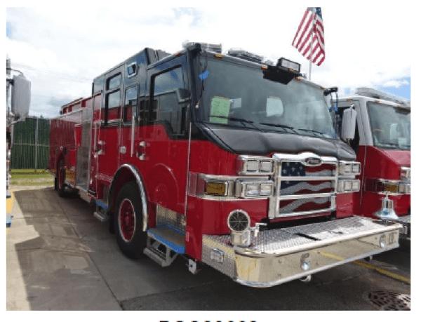 fire truck being built by Pierce