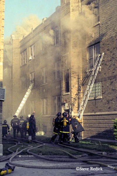 vintage Chicago fire photo
