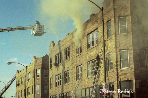 vintage Chicago fire photo with Snorkel 2