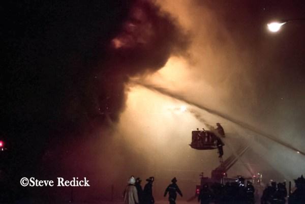 massive fire in Chicago
