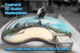 Shaun Hays, Chicago Chalk Champ - Chalk Art Illusions - 3D Chalk Art - Master Chalk Artist