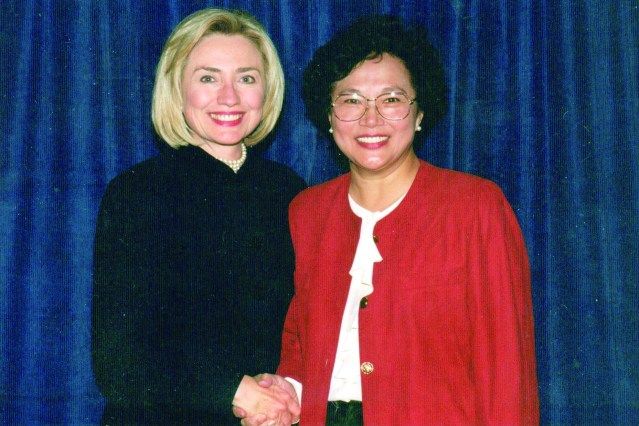 Ming with Hilary Clinton 2