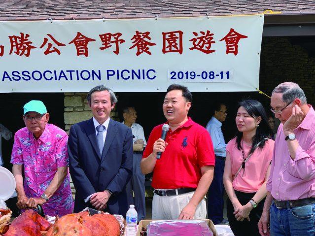 照片二:協勝公會主席林偉權致答謝詞