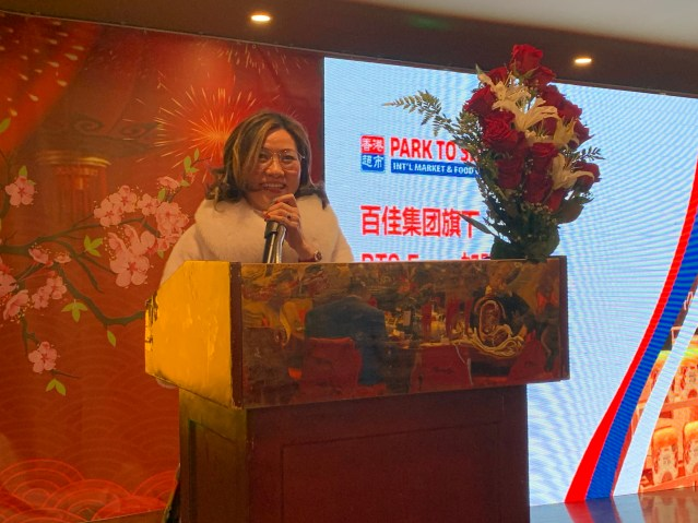 6.總裁夫人李秀好(Annie Chen)感謝過去一年各位員工的辛勤付出