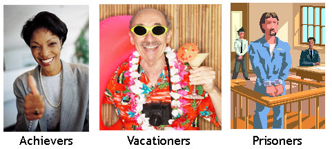 Achievers, Vacationers & Prisoners