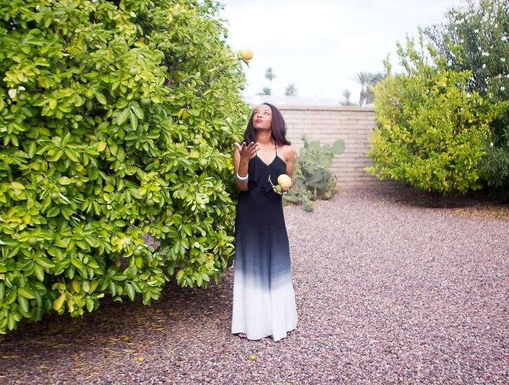 black ombre dress