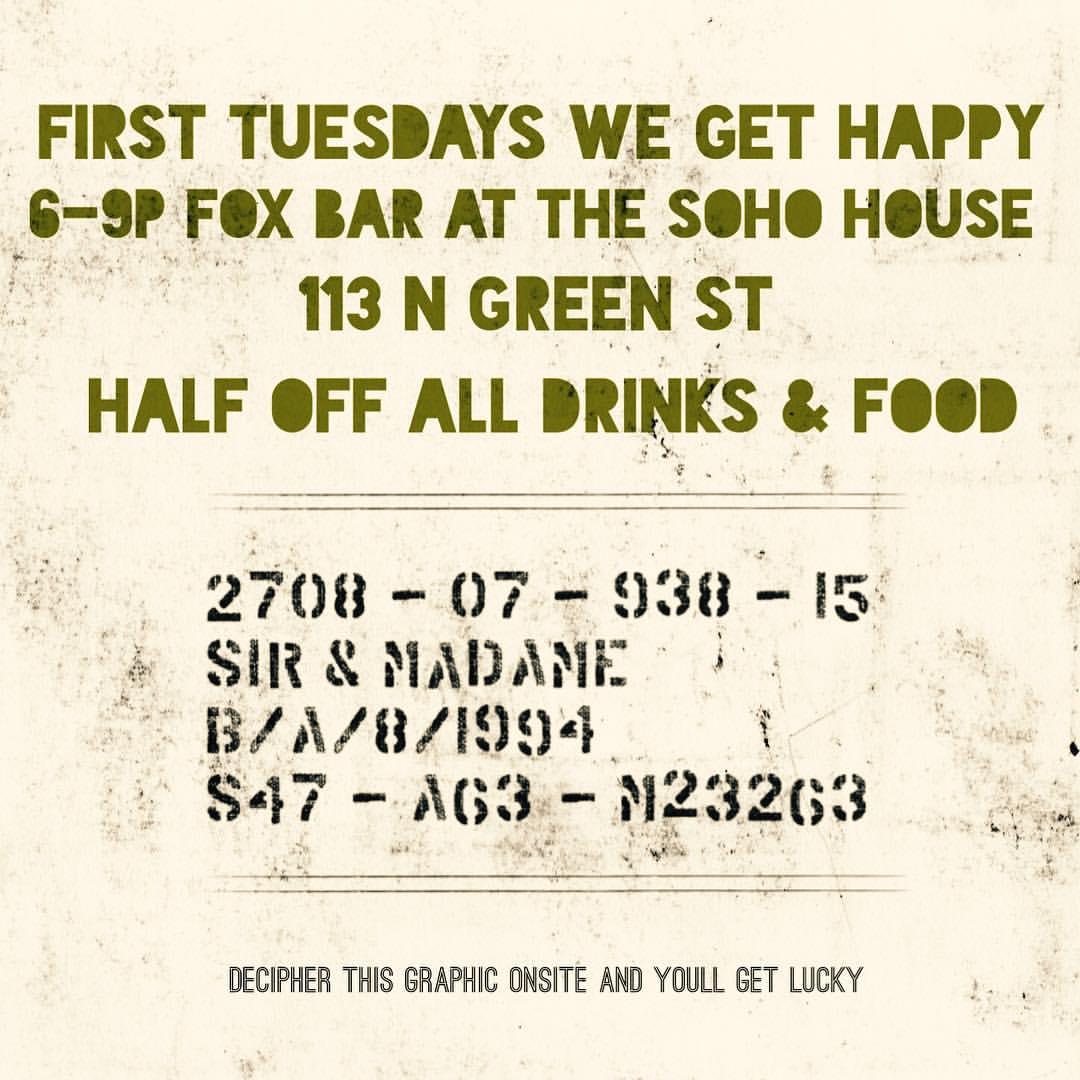 First Tuesday at Fox Bar
