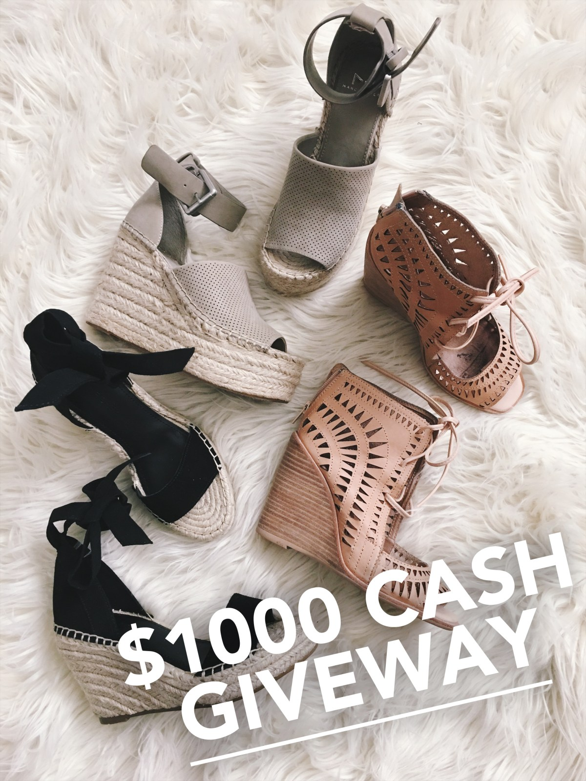 Win $1000 in Cash Giveaway
