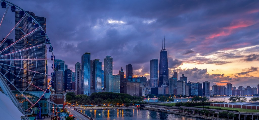 Chicago Sunset on the Lakeshore