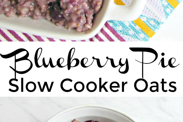 Blueberry Pie Slow Cooker Oats