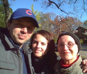 Me with my mom and my husband
