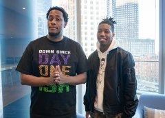 All Day Jay and CamQuotes. Chicago Music Interview. Photo by- Kevin Baker @ImKevinBaker. Chicago, Il