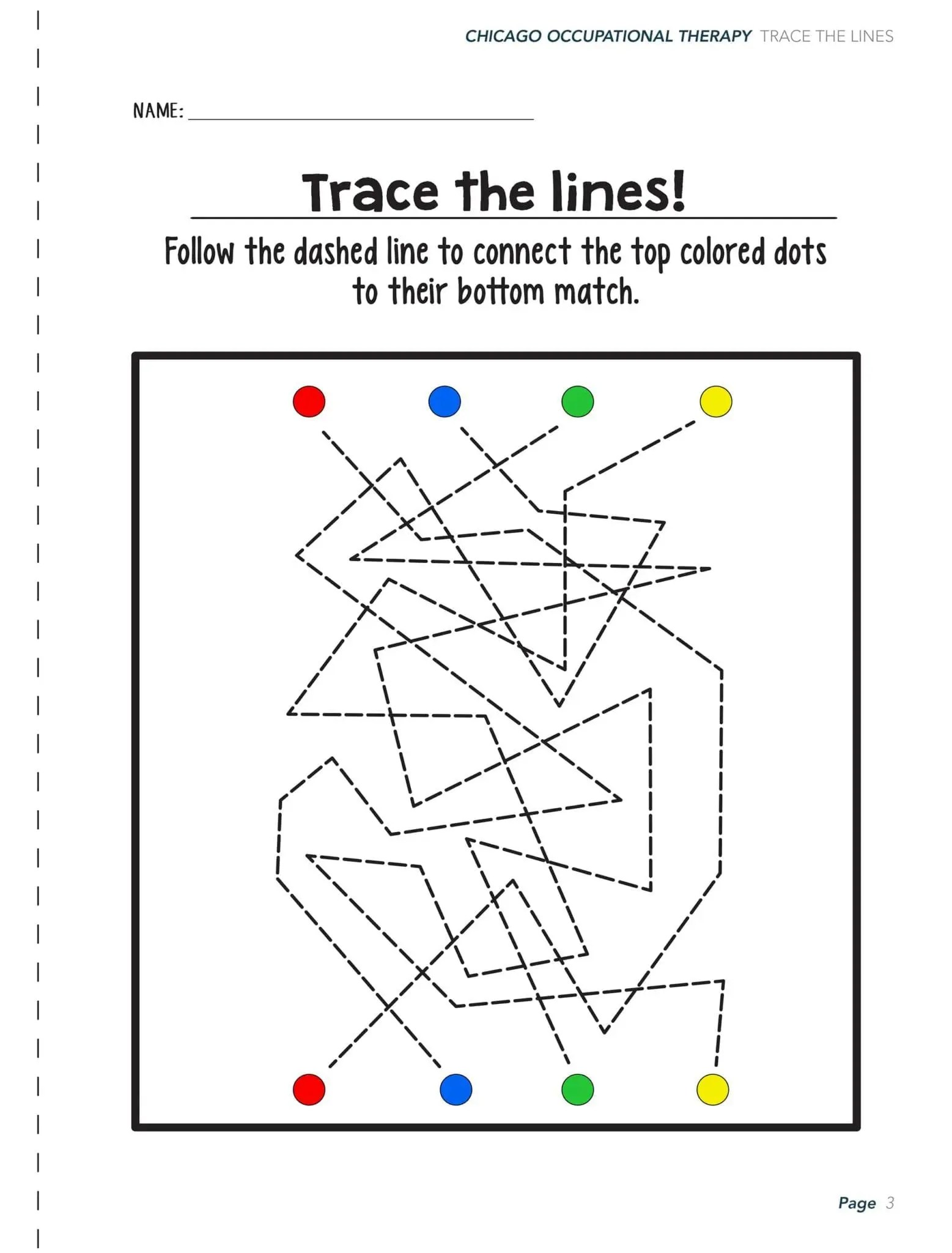 Visual Motor Activity Worksheets