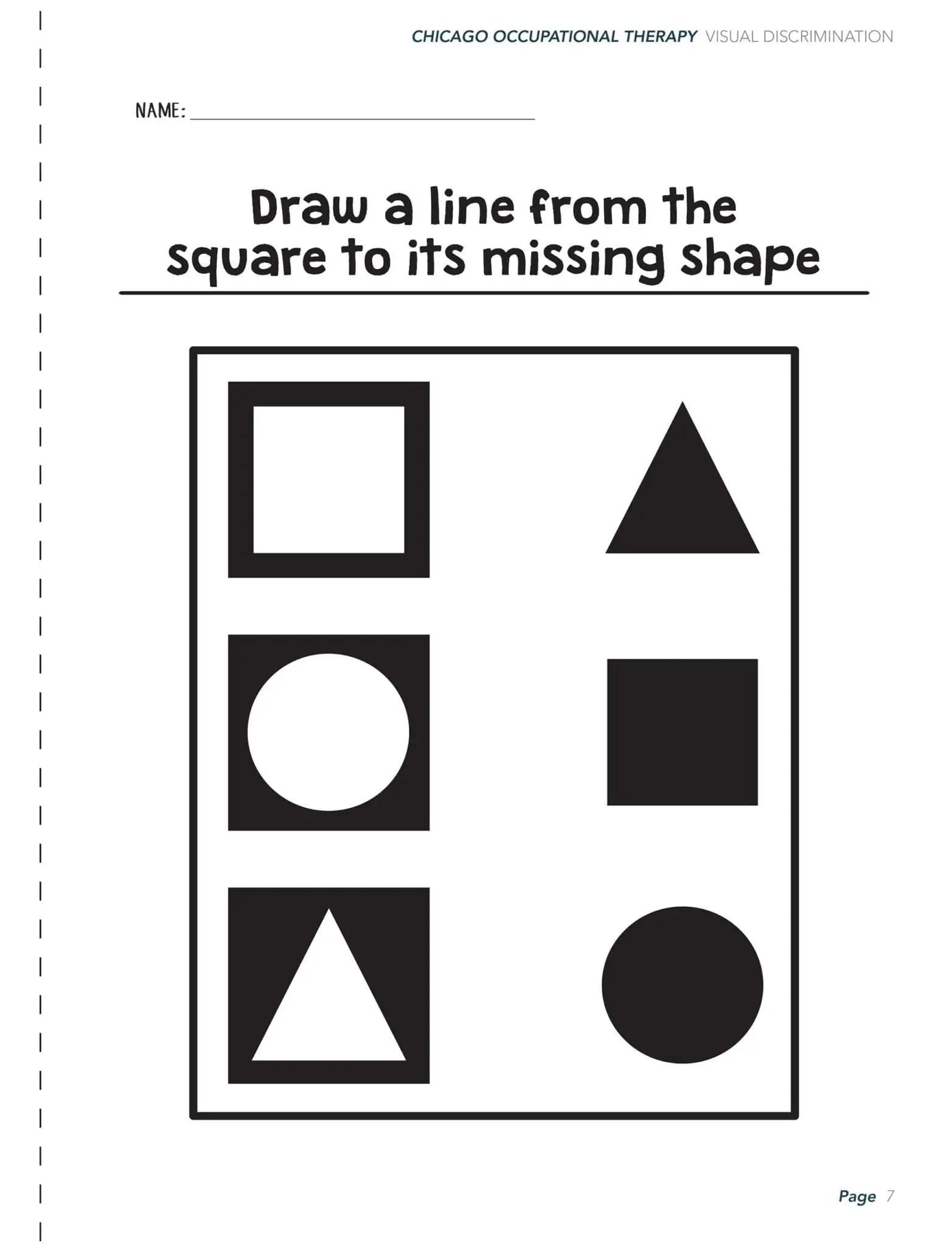 Visual Perceptual Activity Worksheets