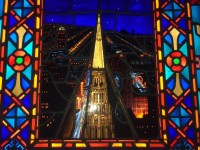 Chicago Temple exterior stained glass