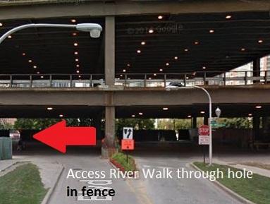 LakeShore East River walk entrance