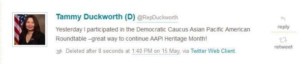 Politwoops tweet