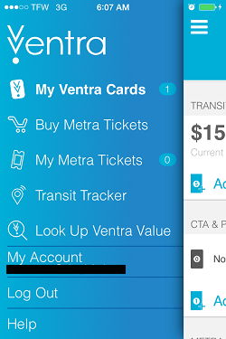 Ventra App Metra Ticket screen 2