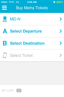 Ventra App Metra Ticket screen 5