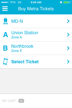 Ventra App Metra Ticket screen 9