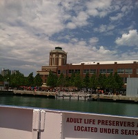 Water Taxi stop at Navy Pier