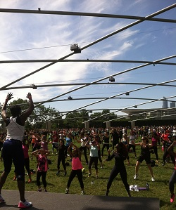 Work out Millennium Park